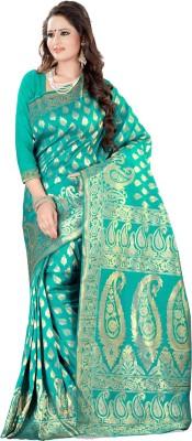 Style U Self Design Banarasi Art Silk Saree(Green)