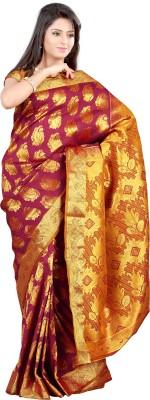 Mimosa Woven Kanjivaram Handloom Art Silk Saree(Maroon)  available at flipkart for Rs.1999