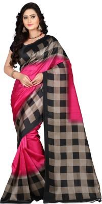 Vastrakala Printed Bollywood Art Silk Saree(Multicolor)