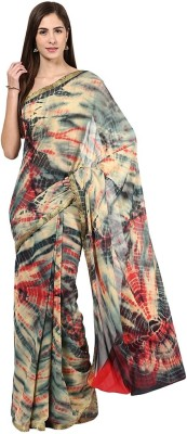 Vivid India Printed Fashion Chiffon Saree(Multicolor) Flipkart
