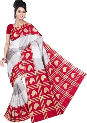 Saran Paisley, Checkered Bollywood Art Silk Saree(Multicolor)