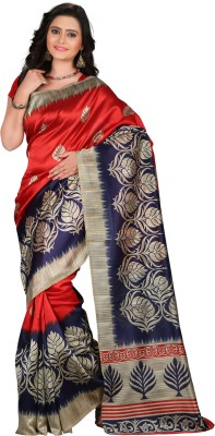 E Vastram Printed Bollywood Art Silk Saree Maroon