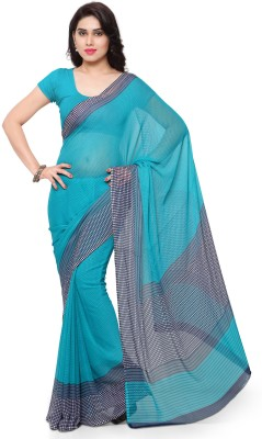 Vaamsi Printed Daily Wear Chiffon Saree(Blue)