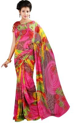 Anushree Saree Self Design Fashion Georgette Saree(Multicolor)