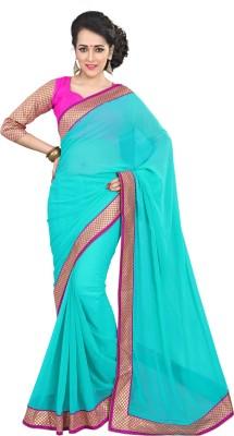 41a4cef99de41 Viva N Diva Embroidered Fashion Georgette Saree(Light Blue)