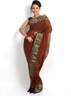Purabi Woven Tant Handloom Cotton Saree(Maroon)