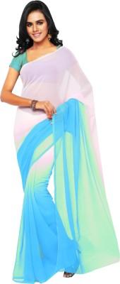Aruna Sarees Solid Fashion Chiffon Saree(Blue)  available at flipkart for Rs.540