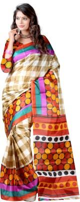 Anushree Saree Self Design Fashion Silk Saree(Multicolor)
