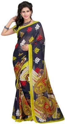 Manvaa Printed Fashion Georgette Saree(Black)