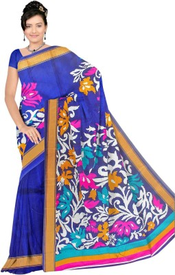 svb sarees Printed Daily Wear Cotton Blend Saree Multicolor