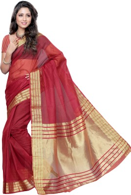 Mimosa Woven Kanjivaram Handloom Art Silk Saree(Maroon)  available at flipkart for Rs.699