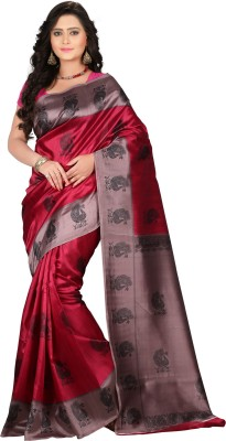 VASTRAKALA Printed Bollywood Art Silk Saree Multicolor