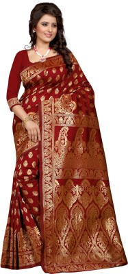 Style U Self Design Bollywood Polycotton Saree(Red)