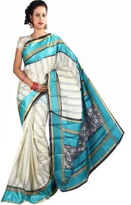 Anushree Saree Printed Fashion Silk Saree(Multicolor)