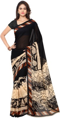 Anand Sarees Paisley, Floral Print Daily Wear Georgette Saree(Multicolor)