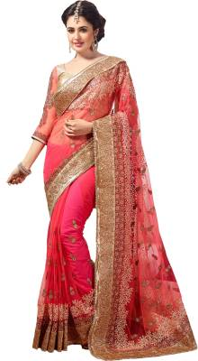 M.S.Retail Embroidered Bollywood Net Saree