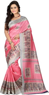 E-Vastram Printed Bollywood Art Silk Saree(Pink)