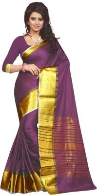 Style U Self Design Bollywood Cotton Saree(Magenta)