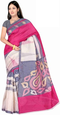 Winza Designer Embellished Bollywood Art Silk, Printed Silk, Silk, Cotton Saree(Multicolor)