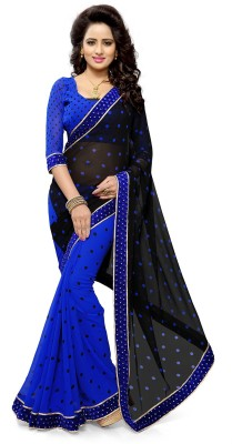 Mirchi Fashion Printed Bollywood Poly Georgette Saree(Multicolor) at flipkart