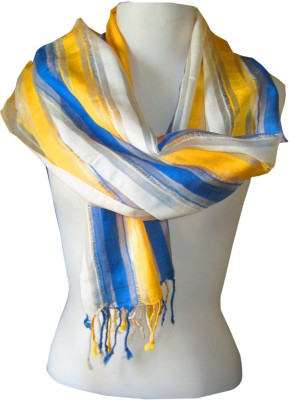 Dushaalaa Striped Silk, Viscose Women's Scarf