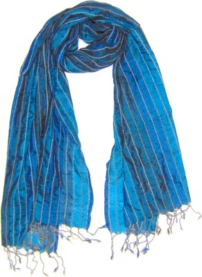 Dushaalaa Striped Silk/Wool Women's Scarf