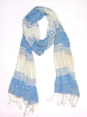 Dushaalaa Striped Coton/Linen/Lycra Women's Scarf
