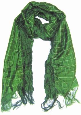 Dushaalaa Checkered Silk/Lycra Women's Scarf