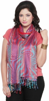 Little India Silk Self Design Women's Shawl(Multicolor)