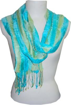Dushaalaa Striped Silk, Lycra Women's Scarf