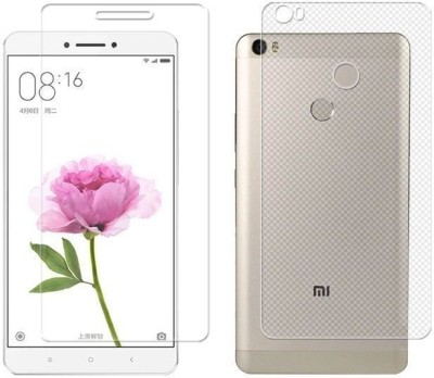 Case Creation Front and Back Screen Guard for Mi Max(Pack of 2)