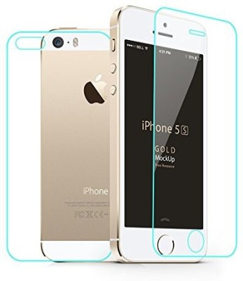 Case Creation Front and Back Screen Guard for Apple iPhone 5S(Pack of 2)
