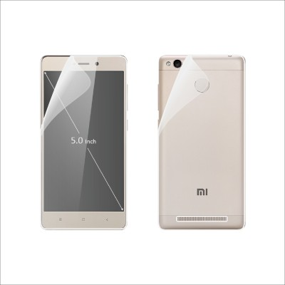 Case Creation Front and Back Screen Guard for Mi Redmi 3S Prime(Pack of 2)