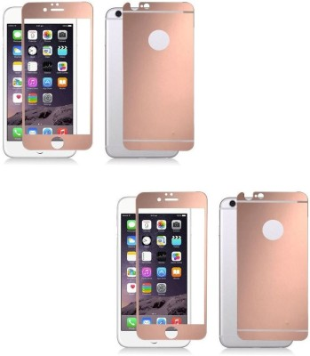 Mudshi Tempered Glass Guard for iPhone 6s Plus Rose Gold Color (Front and Back) at flipkart
