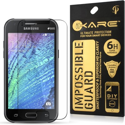 Case Creation Tempered Glass Guard for Samsung Galaxy J1(Pack of 1)