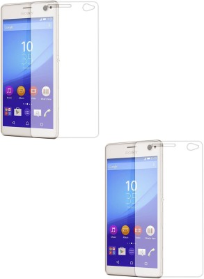 MudShi Tempered Glass Guard for Sony Xperia C4(Pack of 2)