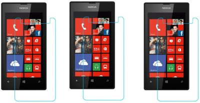 ACM Tempered Glass Guard for Nokia Lumia 525(Pack of 3)