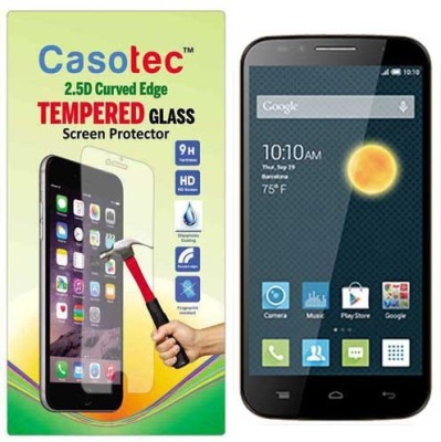 Chevron Tempered Glass Guard for Alcatel OneTouch Flash 2(Pack of 1)