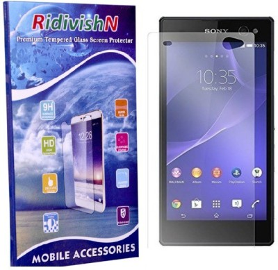 RidivishN Tempered Glass Guard for Sony Xperia M2(Pack of 1)