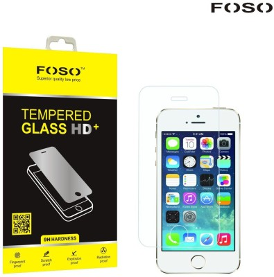 FOSO Tempered Glass Guard for Apple iPhone 5, Apple iPhone 5s, Apple iPhone 5C(Pack of 1)