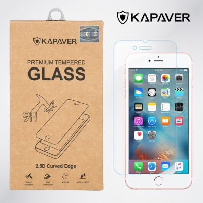 Kapaver Tempered Glass Guard for Apple iPhone 6 Plus, Apple iPhone 6s Plus(Pack of 1)
