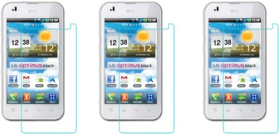 ACM Tempered Glass Guard for Lg Optimus P970(Pack of 3)