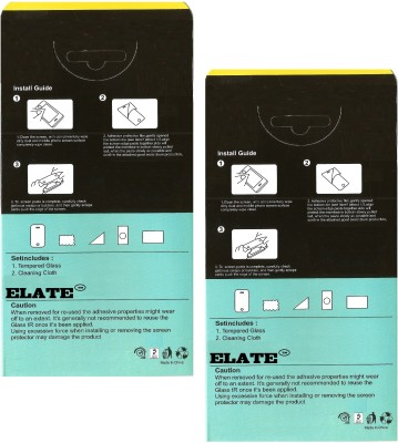 Elate Tempered Glass Guard for HTC Desire 526(Pack of 2)