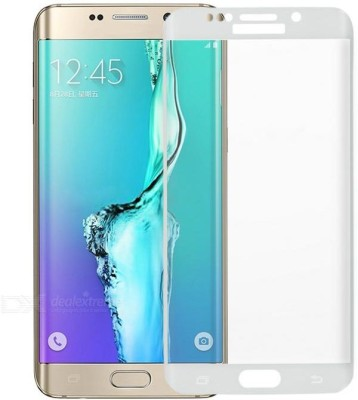 MudShi Tempered Glass Guard for Samsung Galaxy S6 Edge White Color(Pack of 1)
