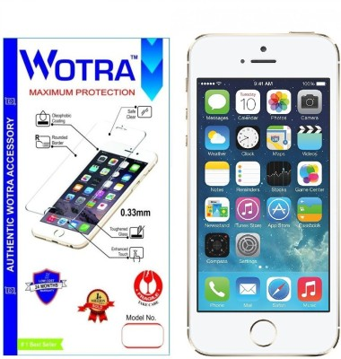 Wotra Tempered Glass Guard for Premium Apple iPhone 5/5S/5C Tempered Glass Screen Protector with FREE Installation Kit