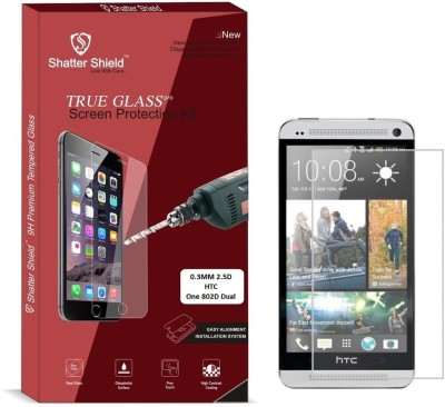 "Shatter Shield Tempered Glass Guard for HTC One 802D Dual SIM (4.7"" Inch Display)(Pack of 1)"