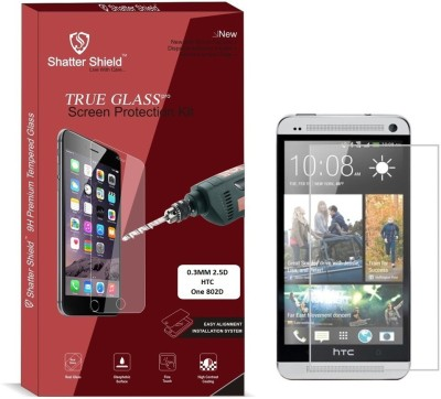 "Shatter Shield Tempered Glass Guard for HTC One 802D (4.7"" Inch Display)(Pack of 1)"