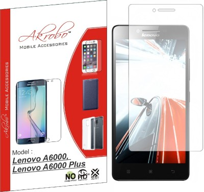 Akrobo Tempered Glass Guard for Lenovo A6000, Lenovo A6000 Plus(Pack of 1)