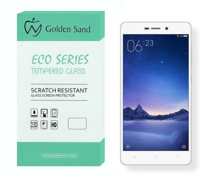 Golden Sand Tempered Glass Guard for Mi Redmi 3S, Mi Redmi 3S Prime(Pack of 1)