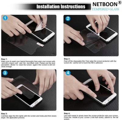 Netboon Tempered Glass Guard for Sony Xperia M4 / Sony Xperia M4 Aqua(Pack of 3)